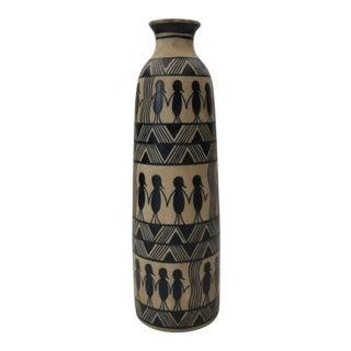 Native American Style Ceramic Vase