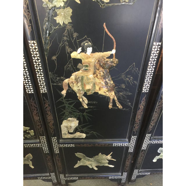 Chinese Hardstone Decorated Panels Set of Four For Sale - Image 12 of 13