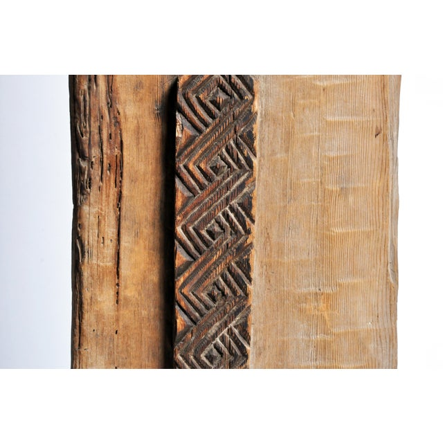 Metal Carved Wooden Door Panel on Stands For Sale - Image 7 of 11