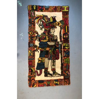 Mid Century Aztec Warrior Shag Rug Preview