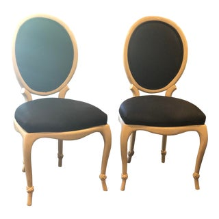 Baker Style Dining Chairs - A Pair For Sale