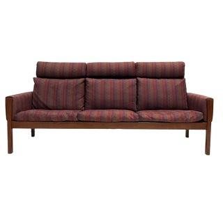Rare Hans Wegner Teak Frame Sofa for A.P. Stolen High Back Version