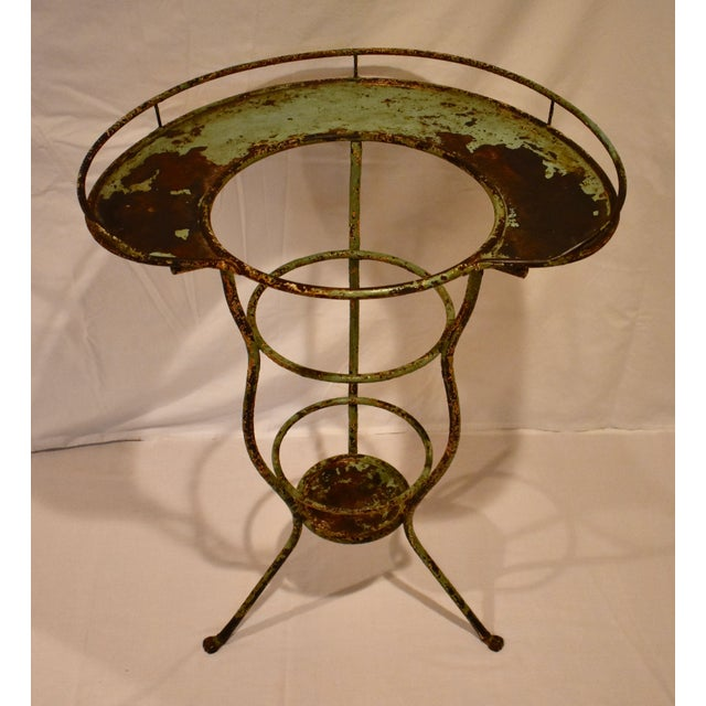 Wrought Iron Washstand With Enameled Copper Bowl For Sale - Image 10 of 11