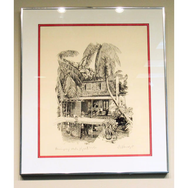 Hemingway's Studio Print signed by Robert E. Kennedy 1980. Limited # 316/500