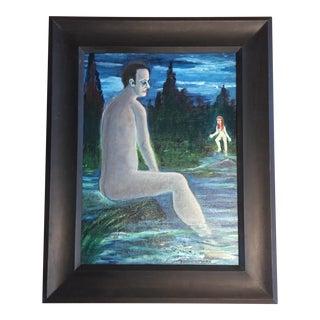 Vintage Nudes in Landscape Painting For Sale