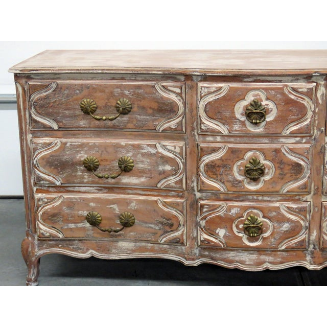 Country Auffray Country French Distressed Painted Dresser For Sale - Image 3 of 12