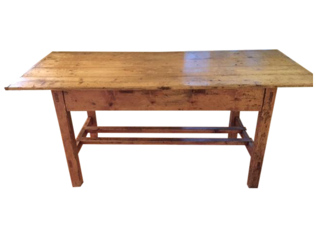 Antique 19th Century Irish Pine Farm Dining Table