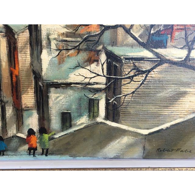 "Robert Fabe ""View From the Steps"" Tempera on Canvas Painting For Sale In Tampa - Image 6 of 11"