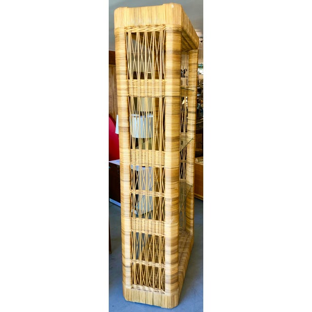 1970s Pair Rattan Etageres From 70's For Sale - Image 5 of 10