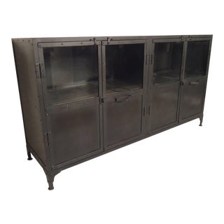 Black Metal Console For Sale