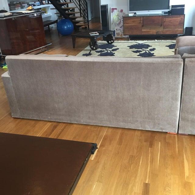 Custom Made Sectional Sofa & Ottoman - Image 7 of 7