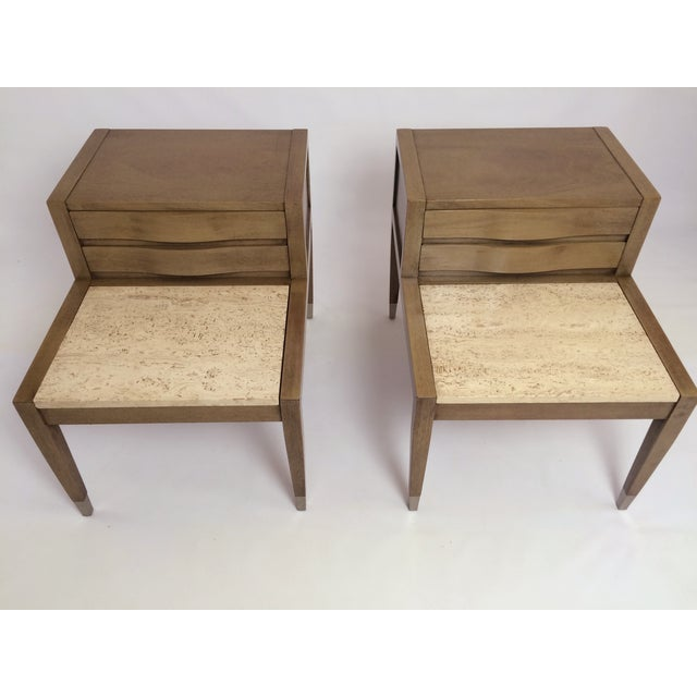 American of Martinsville Side Tables - Pair - Image 2 of 7
