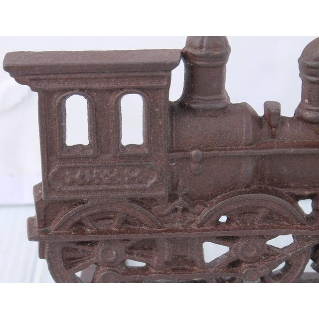 19th Century Original Old Surface Iron Train Door Stop - Image 3 of 8
