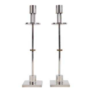 1980s Candlesticks Designed by Ettore Sottsass - a Pair For Sale