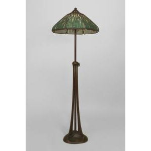 American Mission bronze adjustable floor lamp For Sale - Image 11 of 11