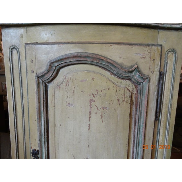 Pair of French Corner Cabinets For Sale In New Orleans - Image 6 of 11