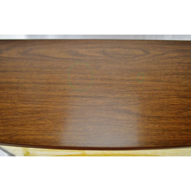 Mid 20th Century Mid Century Modern Walnut Formica & Faux Mother of Pearl Dry Bar For Sale - Image 5 of 13