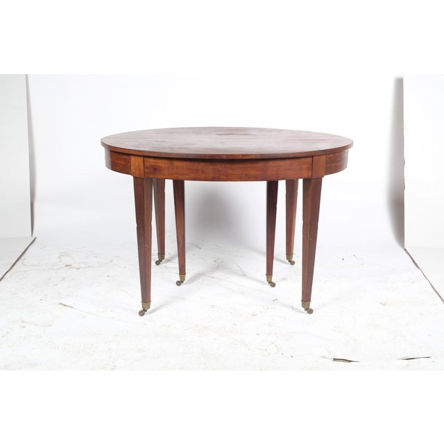 French Louis XVI Style Oval Mahogany Center Table For Sale - Image 10 of 10