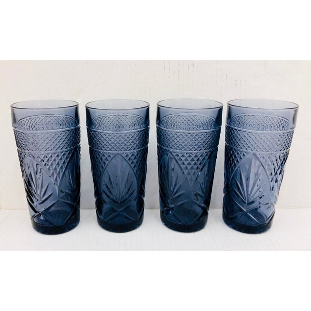 Mid 20th Century Vintage Set Cut Glass Tumblers For Sale - Image 5 of 5