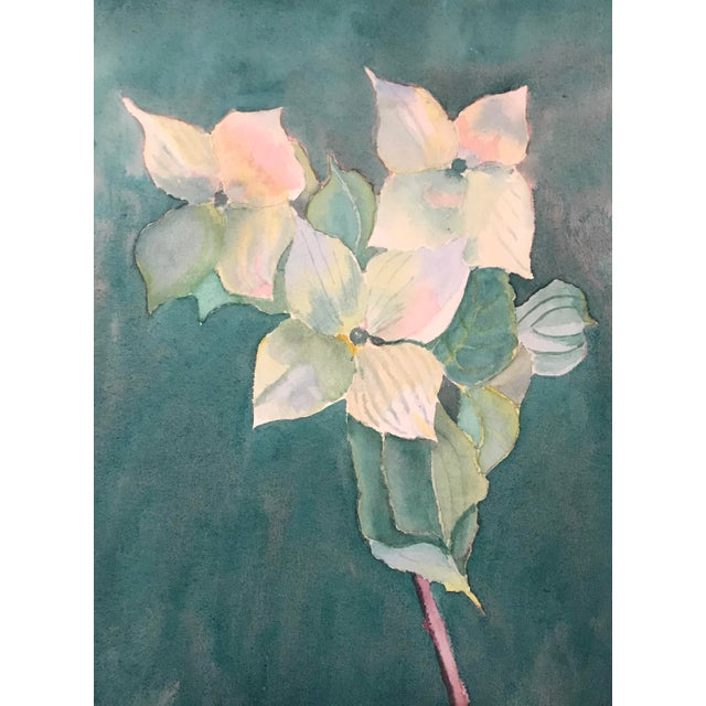 1950s Dogwood Blossoms Floral Still Life Painting Chairish