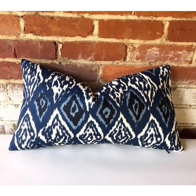 Robert Allen Boho Indigo Linen Ikat Pillow Cover - Image 2 of 3