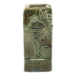 Green Ceramic Bamboo Ikebana Vase For Sale