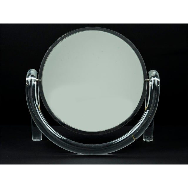 Mid Century Modern Dorothy Thorpe Lucite Tabletop Make-Up Mirror - Image 3 of 6