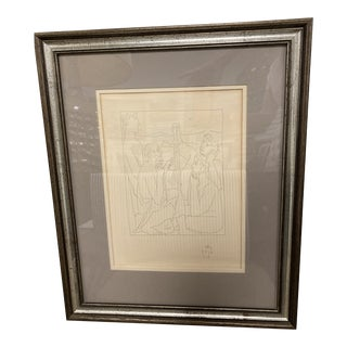 """1970s """"Nestor's Tales of the Trojan War"""" Etching After Pablo Picasso, Framed For Sale"""