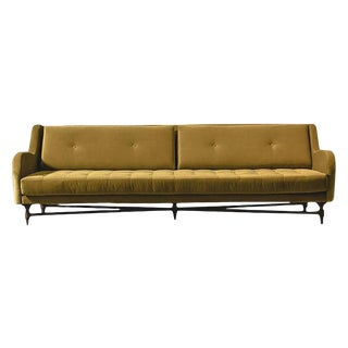 Atra Dino Velvet Tufted Sofa For Sale