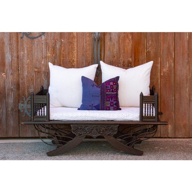 Gorgeous and regal, this hand-carved Burmese howdah settee is from early 20th century. This settee was used for sitting...