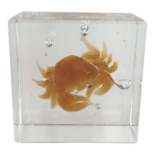 Crystal Crab Glass Block For Sale