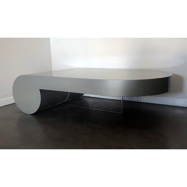 Lacquered And Acrylic Leg Coffee Table Style Of Vladimir Kagan