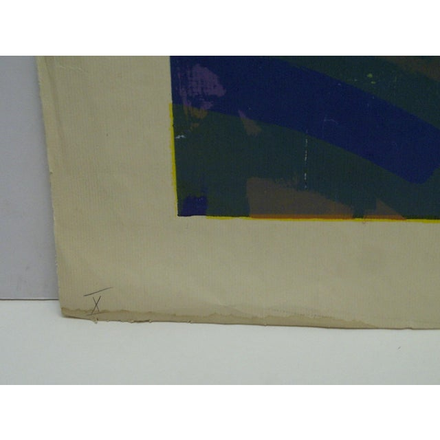 """Modern Limited Edition -- Signed Numbered (X) Print -- Titled """"Gold Fish"""" -- by Okamura For Sale - Image 3 of 6"""