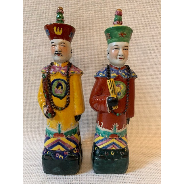 Red Vintage Chinese Figurines - a Pair For Sale - Image 8 of 8