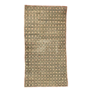 Distressed Vintage Turkish Tulu Accent Rug - 02'04 X 04'05 For Sale