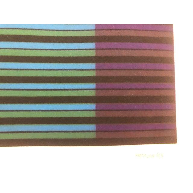 "Kazuhisa Honda Color Mezzotint ""Three Pencils,"" 1983 For Sale - Image 4 of 6"