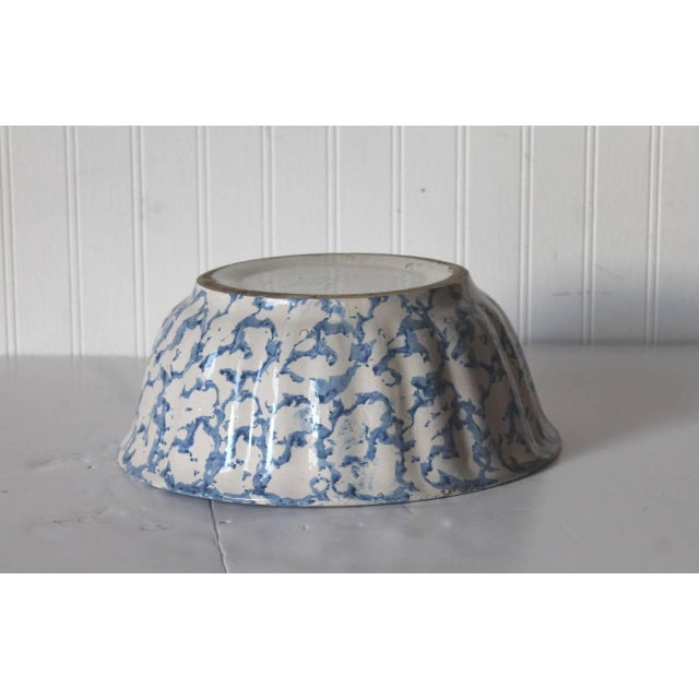 Primitive 19th Century Large Sponge Ware Serving Bowl For Sale - Image 3 of 5