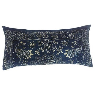 Antique Blue Crane Batik Body Pillow
