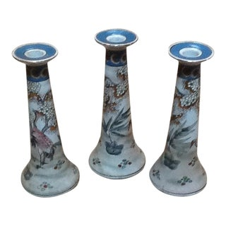 Chinese Porcelain Candlesticks - Set of 3