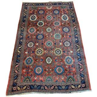 Antique Persian Halvai Bidjar Area Rug - 7′7″ × 11′9″ For Sale