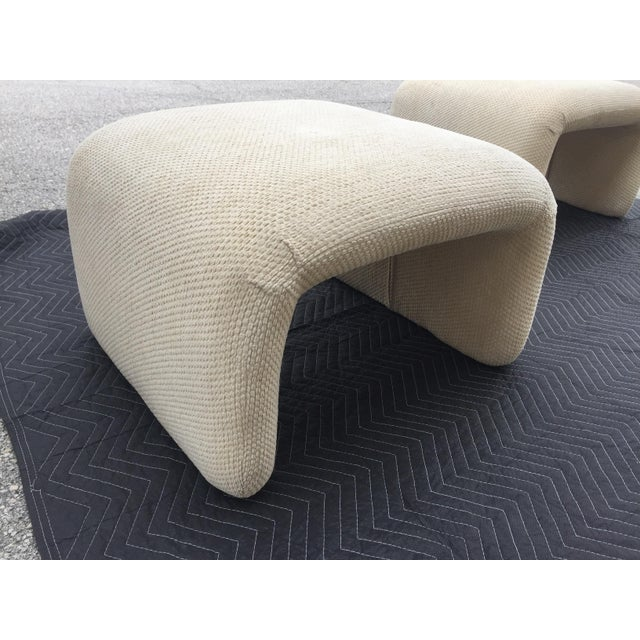 Mid-Century Modern 1970s Vintage Karl Springer Style Waterfall Benches- A Pair For Sale - Image 3 of 7