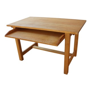 Organic Modern Crate and Barrel Solid Maple Writing Desk