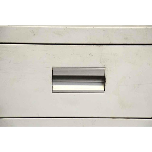 Stackable White Metal Filing Cabinet For Sale - Image 5 of 9