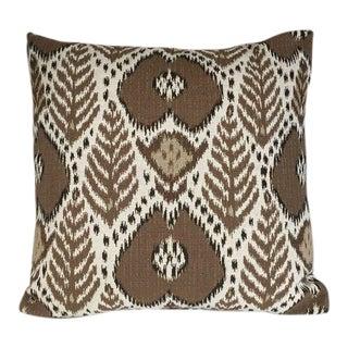 Kim Salmela Brown Ikat Pillow