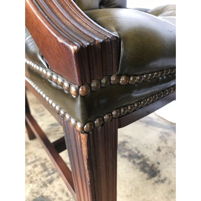 Chesterfield Guest Chairs - a Pair For Sale In San Antonio - Image 6 of 11