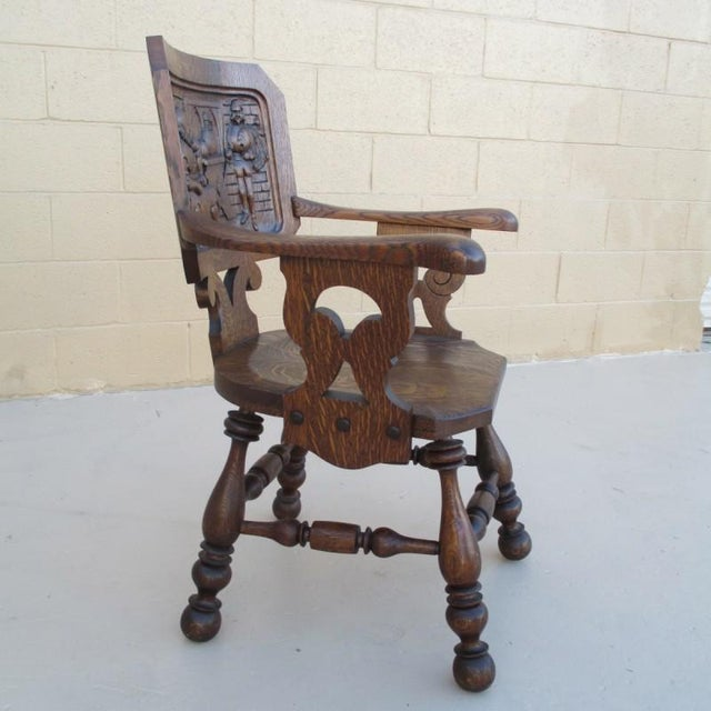 French French Antique Pub Armchair For Sale - Image 3 of 8
