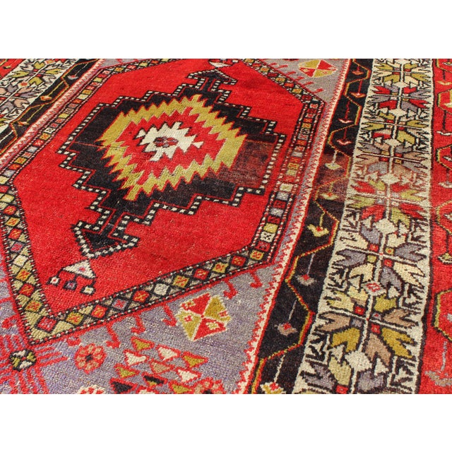 1920s Keivan Woven Arts, L11-1001,, 1920s Antique Turkish Oushak Rug - 3′7″ × 4′10″ For Sale - Image 5 of 7