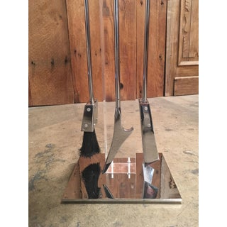 Modernist Chrome and Lucite Fireplace Tools Set Preview