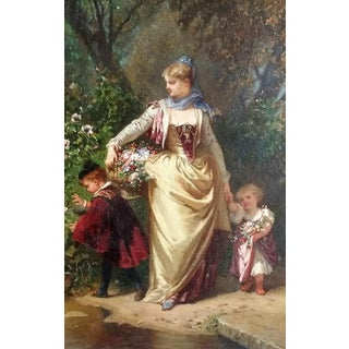19th Century Painting by Henry Charles Antoine Baron For Sale