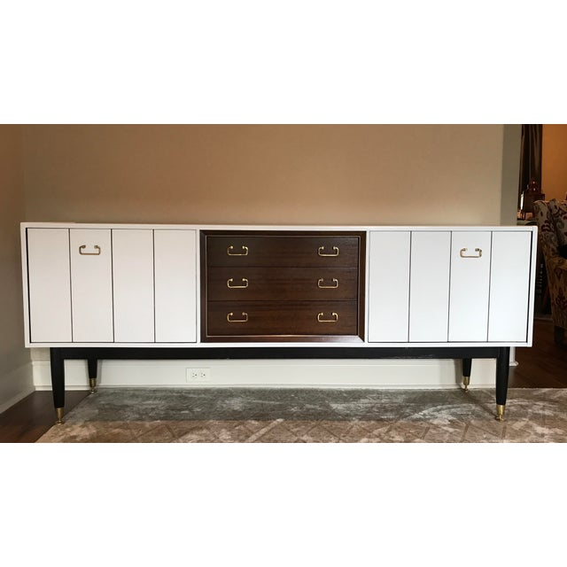 Mid Century Modern Danish Sideboard. Designed by E Gomme. 1950's era, African Mahogany. This sideboard has been recently...